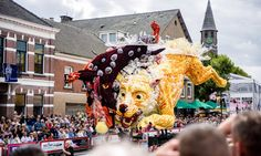 The flower parade Corso Zundert features floats with millions of flowers. In…