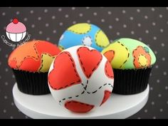 Make Fondant Patchwork Cupcakes - Easy Sugar Fabric Technique by Cupcake Addiction, Learn how to make these delicious treats, and heaps more at Mycupcakeaddiction!