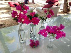 CBC113 Riviera Maya weddings / Bodas Hot pink centerpieces
