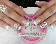 Unicorn Nails Designs, Unicorn Nail Art, Little Girl Nails, Girls Nails, Toe Nail Art, Toe Nails, Simple Nail Designs, Nail Art Designs, Simple Nails