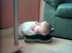 And they often fall asleep with their shoes on. | 26 Reasons Kids Are Pretty Much Just Tiny Drunk Adults