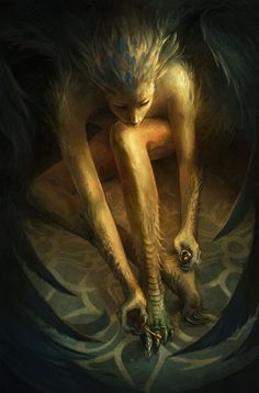 """Harpy's can be one of the most dangerous creatures you'll ever meet, or the most trustworthy."" vain harpy  by sandara http://sandara.deviantart.com/art/vain-harpy-147027962"