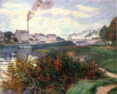 Armand Guillaumin The Banks of the Marne - French Impressionist Oil Painting