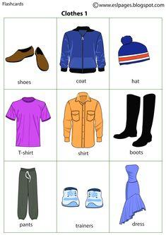 Esl Pages: Clothes