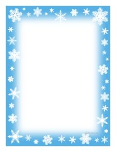 Snowflake writing border