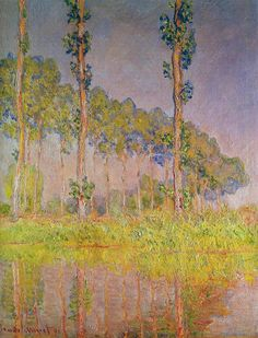 theartgeeks: Three Trees in Spring ~ Claude Monet