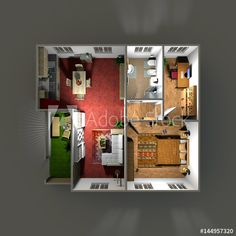 #3d #rendering of #furnished #home #apartment