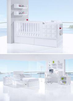 Cunas convertibles de diseño colección DIAMONDS PREMIUM de Alondra. Un lugar único, de diseño y moderno para bebés