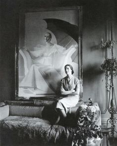 Diana Vreeland at home in London.