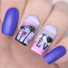 87 Best Palm Tree Nail Art Designs Summer 2018 - The most beautiful nail designs Spring Nail Art, Summer Acrylic Nails, Best Acrylic Nails, Acrylic Nail Art, Acrylic Nail Designs, Summer Nails, Nail Art Designs, Nails Design, Spring Nails