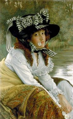 On the river - James Tissot (1836-1902)