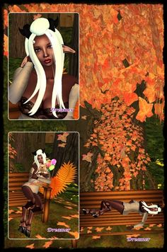 Dreamer's Virtual World: Absolutely Fabulous and Free! FREE skins (male and female), horns, hoofs, clothes, cute hedgehog, bench and tree with poses and animations and falling leaves, mesh hair, lots of things for your house and garden...