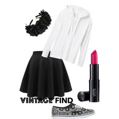 Black & white by lilly-yeah on Polyvore featuring polyvore, fashion, style, Athleta, Vans and Laura Geller