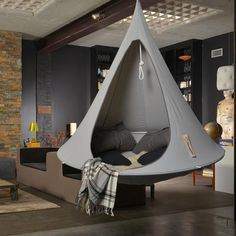 The single Cacoon hanging chair is our most popular size, inside or out – just perfect for a single adult to escape the stresses of the day. Picture yourself hanging out, totally relaxed and slowing t