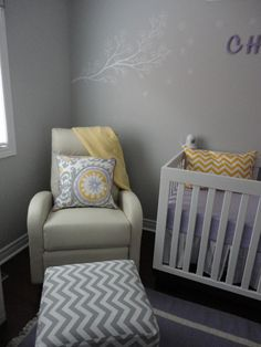Transitional Lavender Grey Nursery | Project Nursery