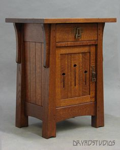 Stunning Mackintosh Nightstand by DryadStudios on DeviantArt Arts And Crafts Interiors, Arts And Crafts Furniture, Furniture Projects, Furniture Plans, Wood Furniture, Wood Projects, Furniture Design, Furniture Stores, Craftsman Style Furniture