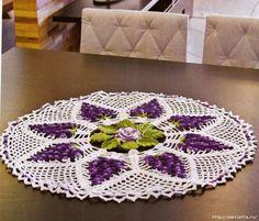 Pensamientos gancho.  Cortina para la cocina y el centro de flores (9) (700x596, 451KB)