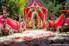 Ceremony, chuppah, indian wedding decor, wedding design, wedding planning, south asian bride