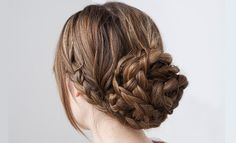 How to make a bun with braids