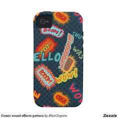 Comic sound effects pattern iPhone 4/4S case