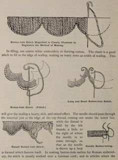 "Embroidery patterns from the public domain book, ""A treatise on embroidery, crochet and knitting .. (1899)."""