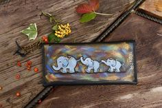 Beautiful Handmade Hand Painted Wallet for Happy Woman with Coin Pocket Best Quality Guaranteed! Selling Handmade Items, Handmade Gifts For Her, Etsy Handmade, Wallet With Coin Pocket, Purse Wallet, Personalized Leather Wallet, Personalized Gifts, Painted Bags, Hand Painted