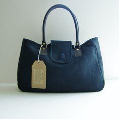 Organic Hemp Handbag. Vegan. Purse. Hand dyed by HempLondon, £83.00