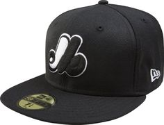MLB Montreal Expos Cooperstown Black with White 59FIFTY Fitted Cap by New  Era.  28.95. 282cec5b4dc
