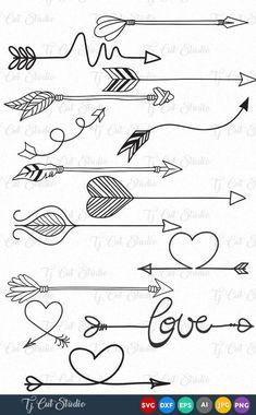 Arrow vector Circles arrow svg Arrow Monogram svg Arrow frames svg Arrow monogram frames Svg Files for Silhouette Cameo or Cricut Doodle Drawings, Easy Drawings, Doodle Art, Tattoo Drawings, Arrow Doodle, Bullet Journal Ideas Pages, Bullet Journal Inspiration, Circle Arrow, Arrow Svg
