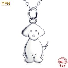 YFN Fine 925 Sterling Silver Jewelry For Women Puppy Animal Pet Pendant Hot colliers femme bijoux colar feminino Necklace