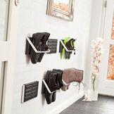 The ZJUP shoe storage. Wall mounted to organise your Shoes. Danish Quality and Design for hallway. Made by LoCa Denmark - Design Harrit-Sørensen Denmark Shoe Rack Back Of Door, Wall Shoe Storage, Living Styles, Organizing Your Home, Organization Hacks, Getting Organized, Space Saving, Small Spaces, Home Goods