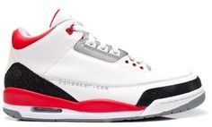 Air Jordan III Fire Red http://celebritysneakerstore.com/