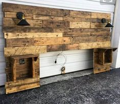 Here we would bring you up with the idea of using the wood pallet in the manufacturing of the interesting wood pallet headboard artwork that is so giant looking in appearance. This furniture set is perfect to make it as part of your house that can come across as excellent for your house whole beauty.