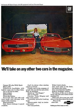 1969 Chevrolet Camaro SS and Corvette Stingray