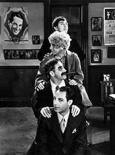 Chico, Harpo, Groucho, and Zeppo Marx at Paramount Studios, 1929 Hollywood Photo, Classic Hollywood, Old Movies, Great Movies, Zeppo Marx, Funniest Pictures Ever, Abbott And Costello, Groucho Marx, The Three Stooges