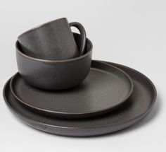 Stoneware Tilley Dinnerware Set Brown – Project 62 Stoneware Tilley D… – Tableware Design 2020 Stoneware Dinnerware Sets, Black Dinnerware, Kitchenware, Tableware, Serveware, Storage Canisters, Dish Sets, Cereal Bowls, Dinner Plates
