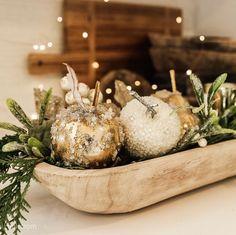 Christmas Table Centerpieces, Centerpiece Decorations, Thanksgiving Decorations, Seasonal Decor, Christmas Decor, Xmas, Kitchen Decorations, Coastal Christmas, Fall Mantel Decorations