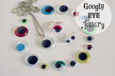 Googly Eye Jewelry via makeandtakes.com