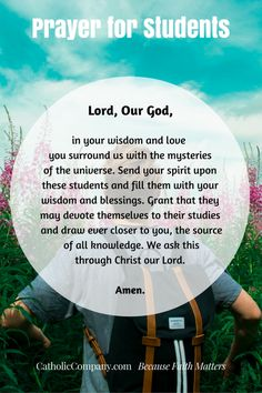 It is so important to pray for your children as they being a new school year. Pray for them and all students with this wonderful prayer. Back To School Prayer, Prayer For Work, Prayer For My Son, Prayer For Parents, Praying For Your Children, Prayers For Children, Prayer Before Exam, Exam Prayer, Teacher Prayer