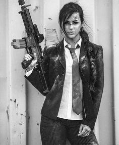 Embrace the Lifestyle // #slingerlife Via @claytonhaugen One of a kind one and only. #girlsandguns #girlswithguns #girlswhoshoot #bossbabe #spy #editorial #makeupartist #hecklerandkoch @alex_zedra @aenimakeup