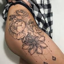 Image result for tattoos on thigh