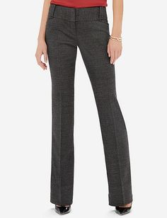 Tweed-Look Cassidy Bootcut Pants from THELIMITED.com