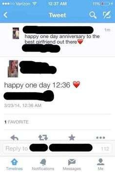 This couple celebrating their one day anniversary. | 19 People Who Shouldn't Be Allowed To Tweet Anymore