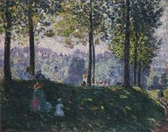Afternoon in the park Henri Lebasque -  Date unknown oil on canvas