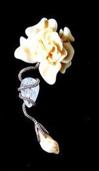 JAR Diamond and Ivory Brooch