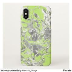 Yellow gray Marble iPhone X Case