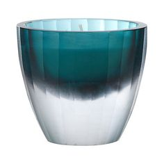Betty Jackson.Black Designer green frosted glass scented votive candle- at Debenhams.com