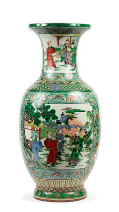 Traditional Vases, Art Japonais, Important, Porcelain Vase, Decoration, Cartouches, Auction, Antiques, Motifs