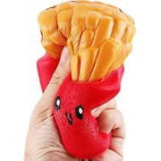 Slow Rising Squishies Jumbo, French Fries Scented Squeeze Easter Stress Relief Toy