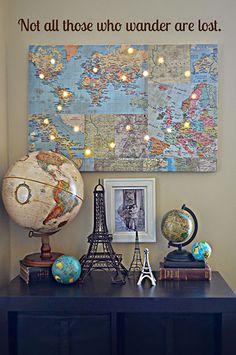 Vintage Paris city of lights map